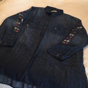 NWT lightweight denim tunic